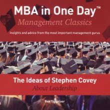 omslag boek The Ideas of Stephen Covey About Leadership
